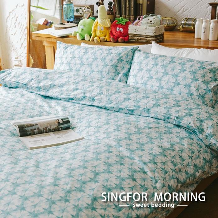特賣 幸福晨光《星空巴黎》單人三件式精梳棉兩用被床包組