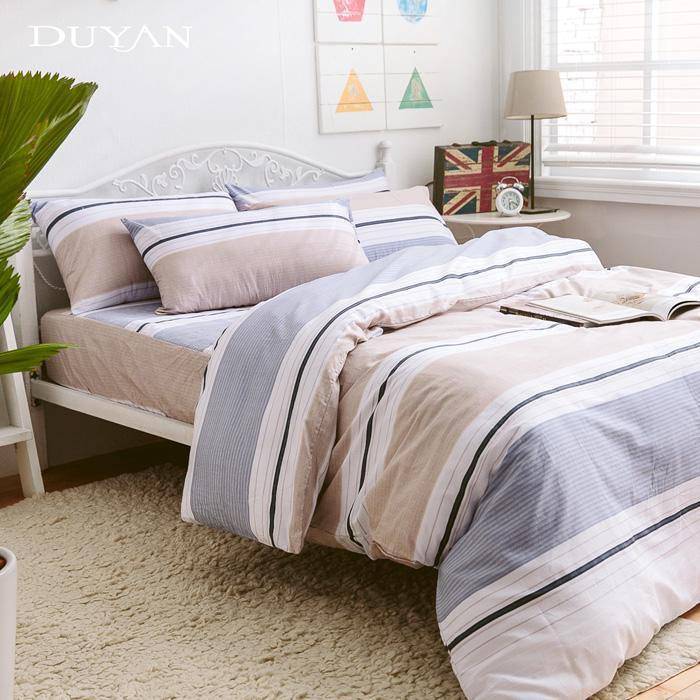 《DUYAN 竹漾》台灣製100%純棉雙人四件式鋪棉兩用被床包組-莫內印象