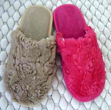 (e鞋院)【立體裁花 】舒適室內拖鞋