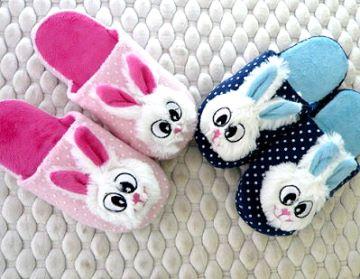(e鞋院)【布萊兔】立體絨毛舒適兒童室內拖鞋