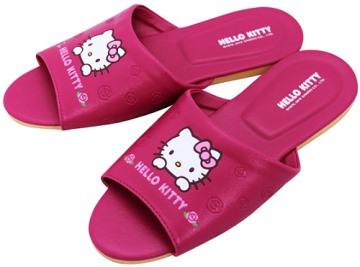 (e鞋院)HELLO KITTY(玫瑰) 室內皮拖鞋(親子拖) ~桃~