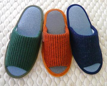 (e鞋院)[馬德里編織]保暖舒適室內拖鞋綠色