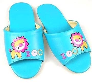 (e鞋院)★童鞋會★[花漾獅子靜音]無聲兒童室內拖鞋