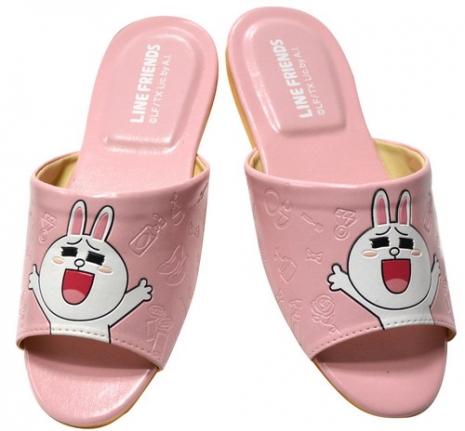 (e鞋院)LINE明星Cony-兔兔室內皮拖鞋