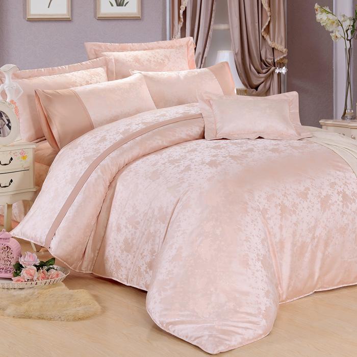 特賣-【Betrise】雙人絲棉緹花八件式鋪棉兩用被床罩組(麝香昑園)