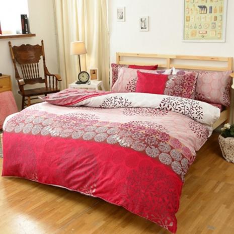 特賣-【FOCA-煙花絮夜】單人精梳純棉兩用被床包組(贈同尺寸防潑水保潔墊X1)