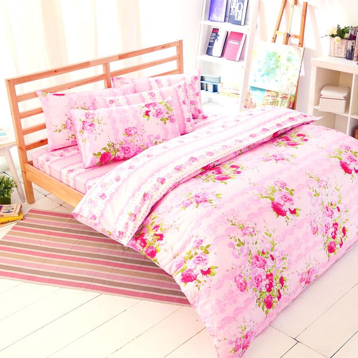 【FOCA-花房故事】單人精梳純棉兩用被床包組(贈雙人羽絲絨被x1) 特賣