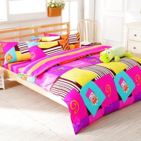 特賣-【FOCA-單純生活】加大精梳純棉兩用被床包組(贈同尺寸保潔墊x1)