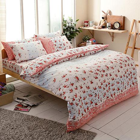 【FOCA-秋思】特大精梳純棉四件式兩用被床包組-特賣