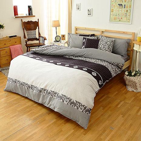 特賣-【FOCA-經典魅力】單人精梳純棉兩用被床包組(贈雙人羽絲絨被x1)