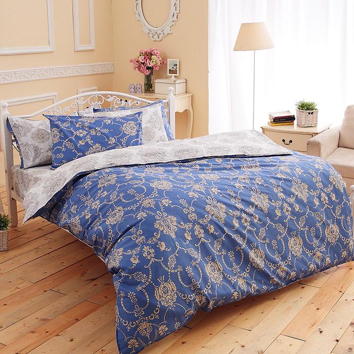特賣-【FOCA-芙洛拉】單人精梳純棉兩用被床包組(雙人羽絲絨被x1)