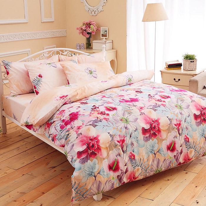 特賣-【FOCA-縷縷悠香】單人精梳純棉兩用被床包組(雙人羽絲絨被x1)