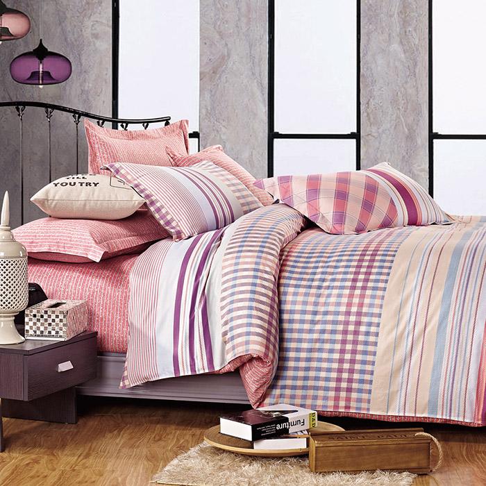 特賣-【FOCA-清晨依戀】單人精梳純棉兩用被床包組(雙人羽絲絨被x1)