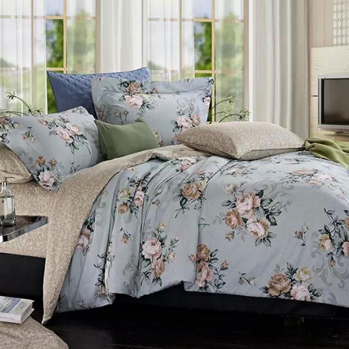 特賣-【FOCA-花倩影】單人精梳純棉三件式兩用被床包組(贈同尺寸保潔墊X1)