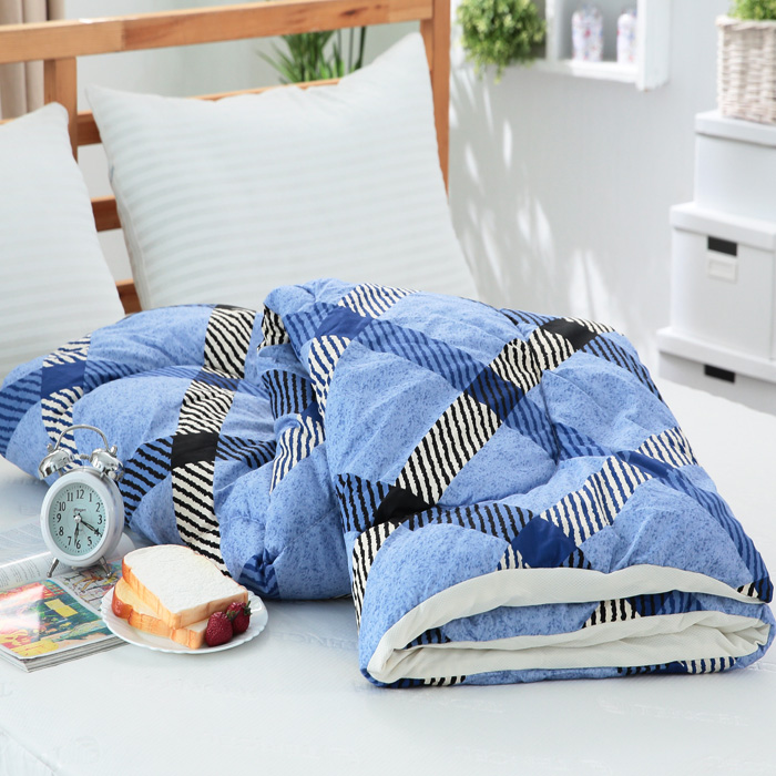 APP-【FOCA】3M -新款吸濕排汗精梳棉四季被(MIT)-書香情味-藍
