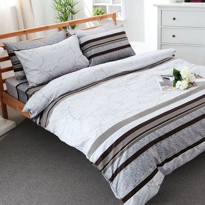 特賣-【FOCA】加大-活性印染雪絨棉四件式被套床包組(邂逅)