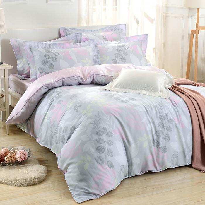 加大-【Betrise】月夜花情-環保印染德國防蹣抗菌100%天絲四件式兩用被床包組-特賣