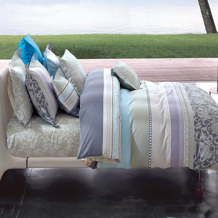 特賣-【FOCA-裸婚時代】加大精梳純棉兩用被床包組(贈同尺寸保潔墊)