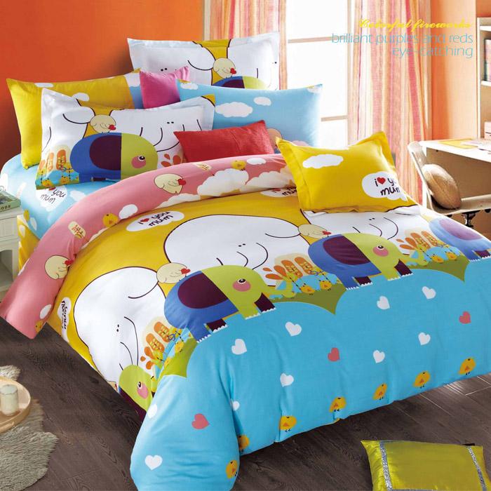 特賣-【FOCA-童心象園】加大精梳純棉兩用被床包組(贈同尺寸保潔墊)