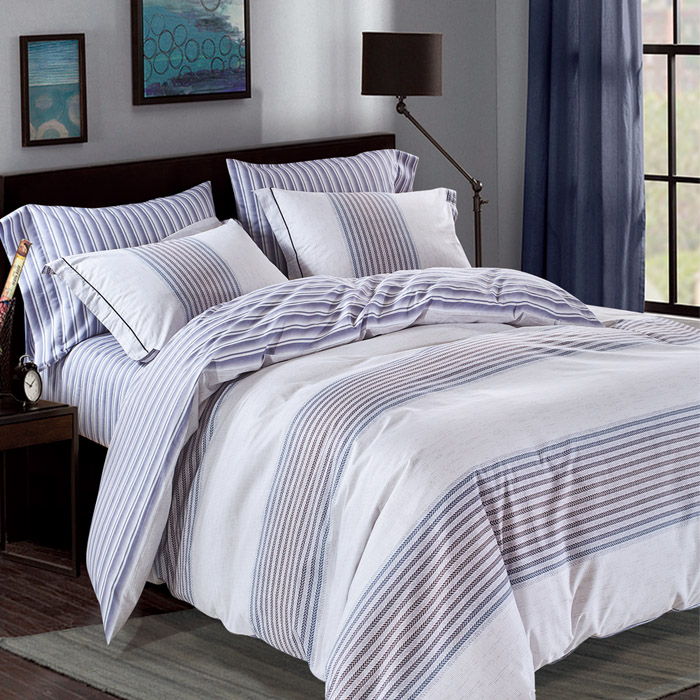 加大【Betrise】風吟暗香-環保印染德國防蹣抗菌100%精梳棉四件式兩用被床包組-APP