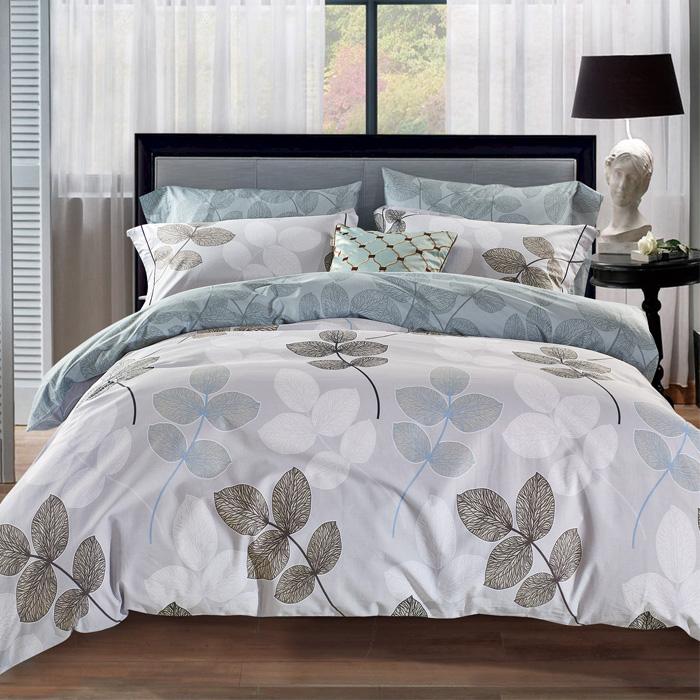 加大【Betrise】朗約清風-環保印染德國防蹣抗菌100%精梳棉四件式兩用被床包組-APP