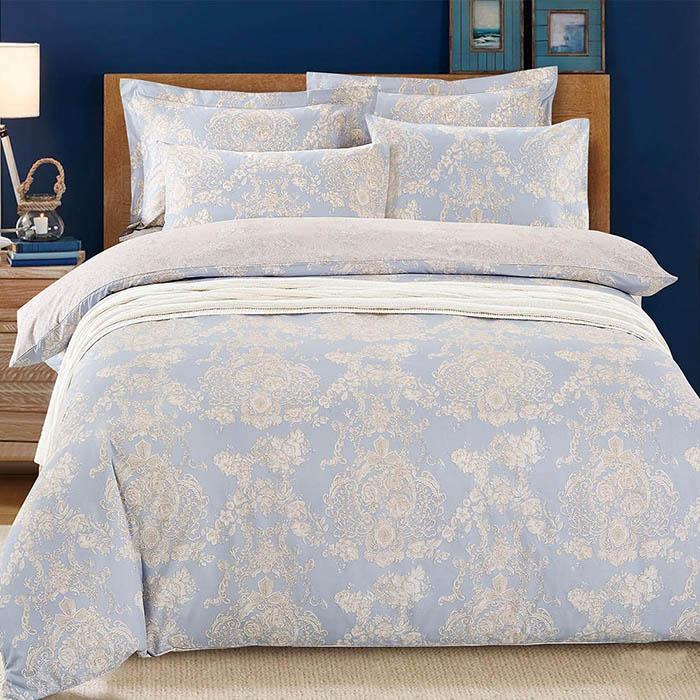 特賣-【FOCA】單人-全鋪棉活性印染雪絨棉三件式床包組-嫻雅