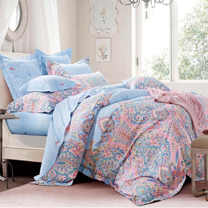 加大-【Betrise】艾爾曼-環保印染德國防?抗菌100%精梳棉四件式兩用被床包組-APP