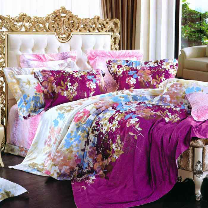特賣-【Betrise伊甸花園】特大-頂級300支紗100%長絨棉四件式兩用被床包組(8x7被套)