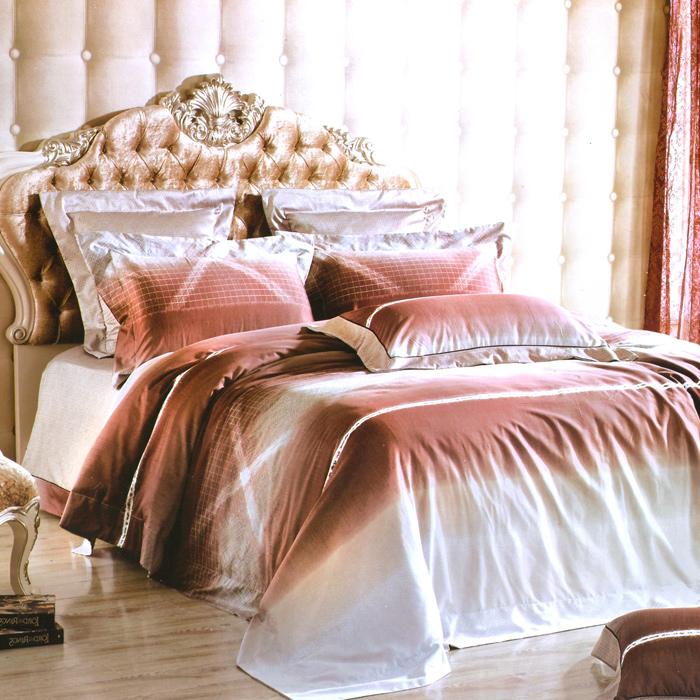 特賣-【Betrise柏拉圖之戀】特大-頂級300支紗100%長絨棉四件式兩用被床包組(8x7被套)