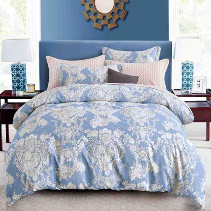 特賣-【FOCA-月清幽】單人-100%精梳純棉兩用被床包組(贈同尺寸保潔墊)