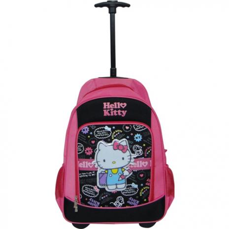 Hello Kitty 立體單柄拉桿書包