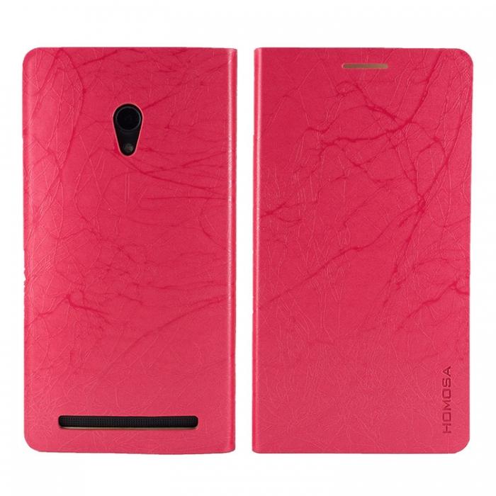 HOMOSA ASUS Zenfone 6 可站立閃電皮套-桃紅