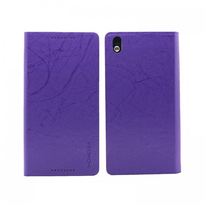 HOMOSA HTC Desire 816 閃電皮紋皮套-閃電紫