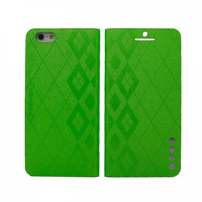 HOMOSA APPLE iPhone 6 (4.7吋) 可站立珠光皮套 (?色可選)淺綠