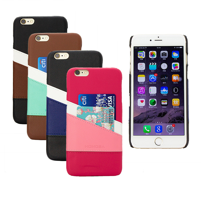 【HOMOSA】APPLE iPhone6 Plus / 6s Plus 皮革貝蓋(四色可選)-手機平板配件-myfone購物