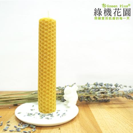 【綠機花園Green Plus】天然精油蜂蠟蠟燭-中圓捲(30g)