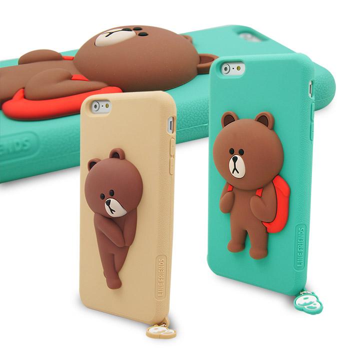 LINE原廠- APPLE iPhone 6s/6 專用BROWN 熊大矽膠保護殼棕