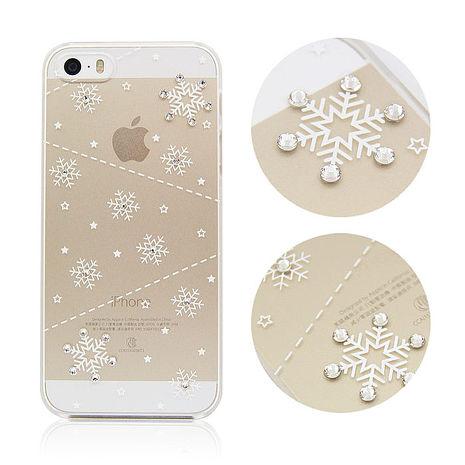 apbs iPhone5 / 5S 施華洛世奇彩鑽保護殼-雪花系列