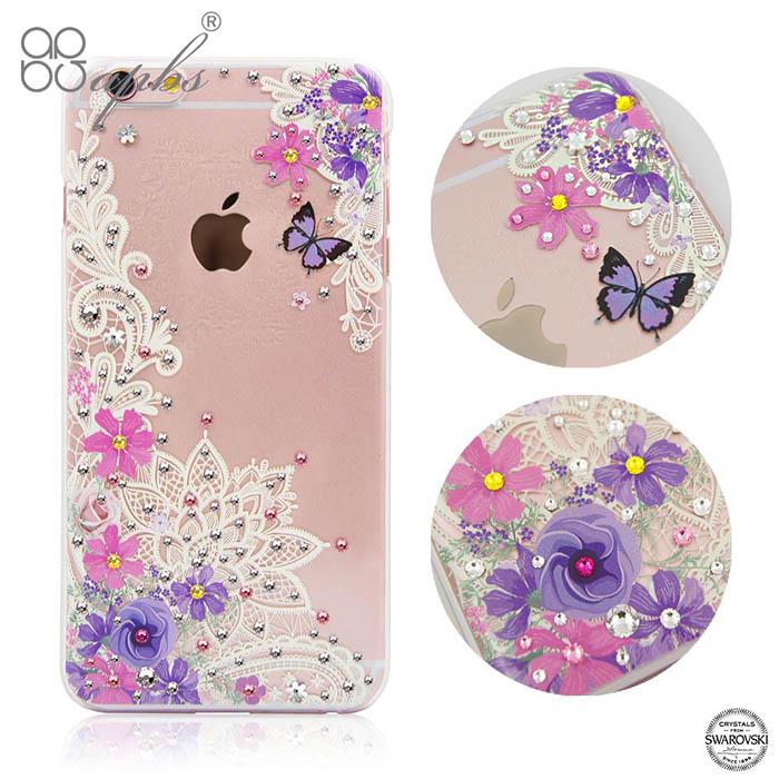 apbs iPhone6s / 6 施華洛世奇彩鑽手機殼-蕾絲花