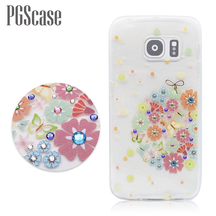 PGS Samsung Galaxy S6 Edge 奧地利彩鑽手機殼-繡球花