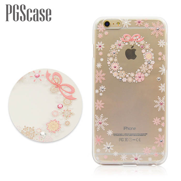 PGS APPLE iPhone 6s/6 & 6s Plus/6 Plus 奧地利彩鑽手機軟殼-雪花圈i6s Plus/i6 Plus