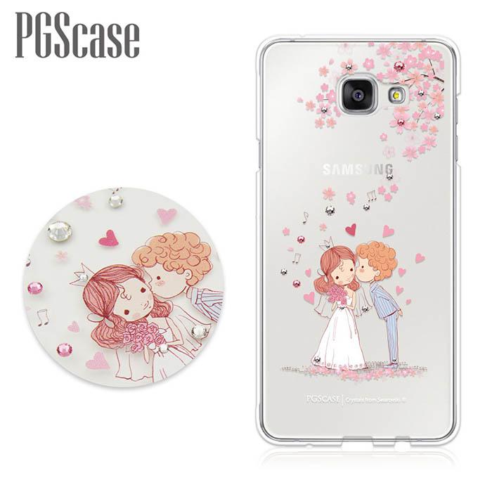 PGS Samsung Galaxy A5(2016) 奧地利彩鑽手機殼-櫻花戀