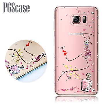 PGS Samsung Galaxy Note 5 奧地利彩鑽防摔手機殼-香吻