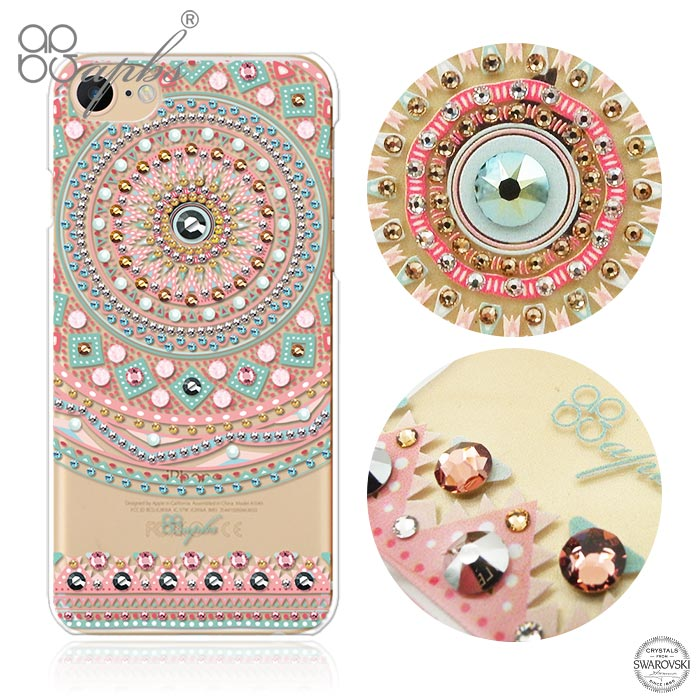 apbs iPhone8/7 Plus & iPhone8/7 施華洛世奇彩鑽手機殼-滿版圖騰