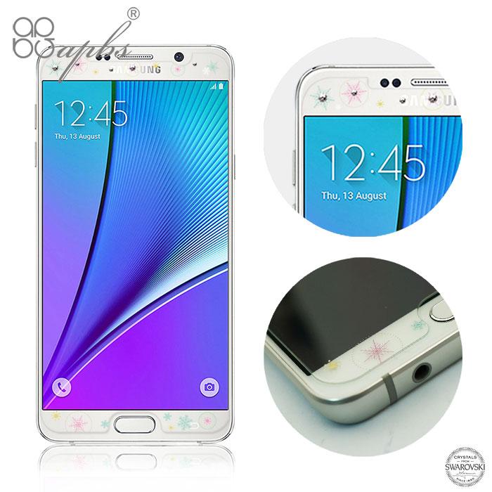 apbs Samsung Galaxy Note5 施華洛世奇彩鑽玻璃保護貼-星月
