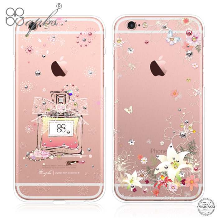 [myfone 獨家優惠] apbs APPLE iPhone 6s Plus/6 Plus 施華洛世奇彩鑽手機殼-維也納馨香or香水百合i6s+/i6+ 香水百合