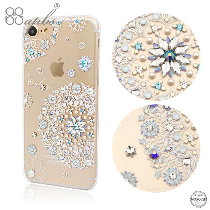 apbs iPhone8/7 Plus & iPhone8/7 施華洛世奇彩鑽手機殼-天使心