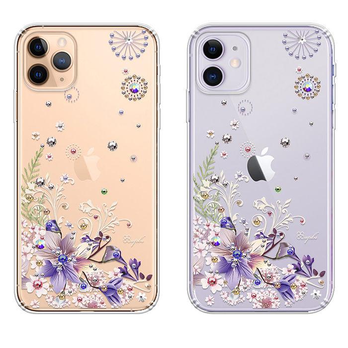 apbs iPhone 11 & 11 Pro & 11 Pro Max 施華彩鑽防震雙料手機殼-祕密花園