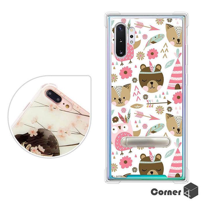 Corner4 Samsung Galaxy Note10+ & Note10 & Note9 四角防摔立架手機殼-森林物語