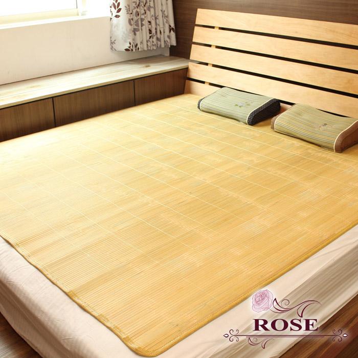 【ROSE】 綠片厚實孟宗竹蓆-加大